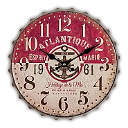 Wall Art Clock Chicago H3