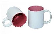 Mug 11oz, inside Pink & handle White (36)