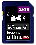 Integral 32GB SDHC  UHS1 80MB/s