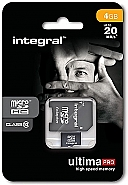 Integral 4GB MicroSDHC - class 10 - UltimaPro 20MB/s met adapter