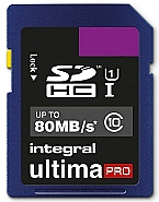 Integral 8GB SDHC - UltimaPro - 80MB/s