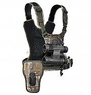 Cotton Carrier Camera Harness voor 1 camera + 1 verrekijker Camo