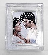 acrylic frame for 1 photo whit snow