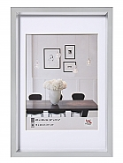 Plastic frame steel style 60x80 silver