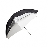 Umbrella 84cm silver/black