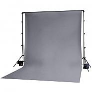 Achtergrond in stof 3m x 6m Grijs