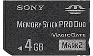 4GB Sony MemoryStick DUO PRO
