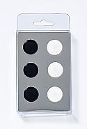 6 Magnets, big dots, 2 colours ass.