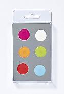 6 Magnets, big dots, 6 colours ass.