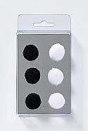 6 Magnets, Pompon, 2 colours ass.
