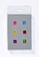 6 Magnets, cubes, 6 colours ass.