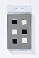 6 Magnets, cubes, 2 colours ass.