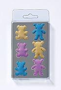 6 Magnets, bear, 3 col. ass.