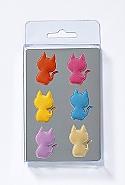 6 Magnets, cat, 6 col. ass.