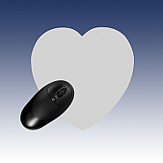 Mousepad Black foam, White top Heart (5)