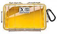Pelicase 1050 Microcase inclusief plukschuim geel