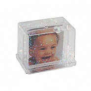 Photo Glitter Globe rectangle (12pcs)