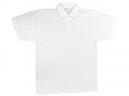 Polo shirt Cotton feel Large white (10)