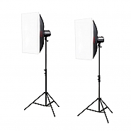 Kit Godox 2 fllitsen 250ws DUO Softbox
