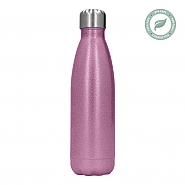 Thermosfles van RVS 500 ml  17oz Roze Glitter (5)