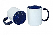Mug 11oz, inside & handle Dark blue (12)