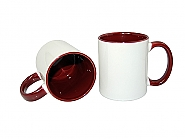 Mug 11oz, inside & handle Bordeaux (12)