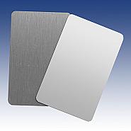 Carte de visite en alluminium blanc 85x54mm (10)