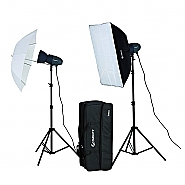 Starblitz Studio flash kit 2x200watt