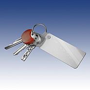 Keychain rechthoek in plastic (10)