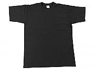T-Shirt Black cotton XX-Large (10)