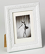 Barock portrait frame, 20x30, white