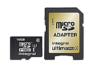 Integral 16GB MicroSDHC - class 10 - UHS-1 90MB/s.
