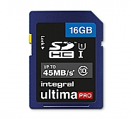 Integral 16GB SDHC UHS1 - 80MB/s