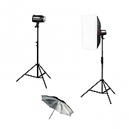 Kit Godox 2 flitsen 160ws + umbrella + softbox