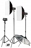 Kit Godox 3 Pioneer flitsen 160ws + softbox