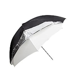 Umbrella 101cm silver/black