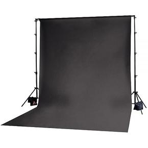 Achtergrond in stof 3m x 6m Zwart