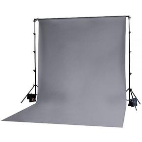 Achtergrond in stof 3m x 3.65m Grijs