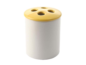 Toothbrush holder Yellow set (12)